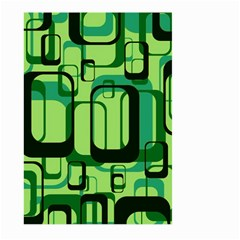 Retro Pattern 1971 Green Large Garden Flag (Two Sides)