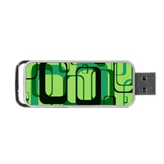 Retro Pattern 1971 Green Portable Usb Flash (two Sides)