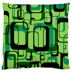 Retro Pattern 1971 Green Large Flano Cushion Cases (Two Sides)