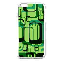 Retro Pattern 1971 Green Apple Iphone 6 Plus Enamel White Case