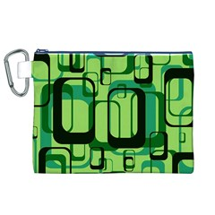 Retro Pattern 1971 Green Canvas Cosmetic Bag (XL)