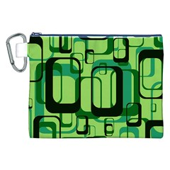 Retro Pattern 1971 Green Canvas Cosmetic Bag (XXL)