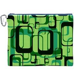 Retro Pattern 1971 Green Canvas Cosmetic Bag (XXXL)