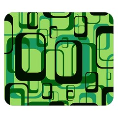Retro Pattern 1971 Green Double Sided Flano Blanket (small)
