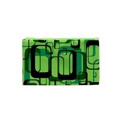 Retro Pattern 1971 Green Cosmetic Bag (XS)