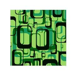 Retro Pattern 1971 Green Small Satin Scarf (square)