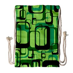 Retro Pattern 1971 Green Drawstring Bag (Large)
