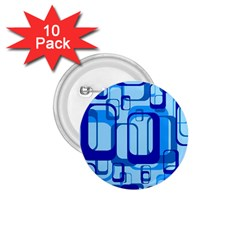 Retro Pattern 1971 Blue 1 75  Buttons (10 Pack)
