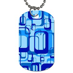 Retro Pattern 1971 Blue Dog Tag (two Sides)