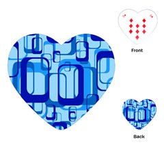 Retro Pattern 1971 Blue Playing Cards (heart)