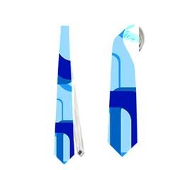 Retro Pattern 1971 Blue Neckties (Two Side)