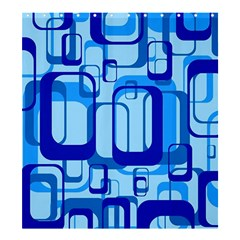 Retro Pattern 1971 Blue Shower Curtain 66  x 72  (Large)