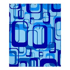 Retro Pattern 1971 Blue Shower Curtain 60  X 72  (medium)