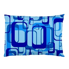 Retro Pattern 1971 Blue Pillow Cases (Two Sides)