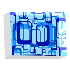 Retro Pattern 1971 Blue 5 x 7  Acrylic Photo Blocks
