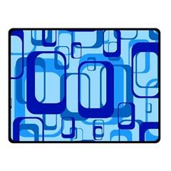 Retro Pattern 1971 Blue Double Sided Fleece Blanket (Small)