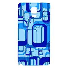 Retro Pattern 1971 Blue Galaxy Note 4 Back Case