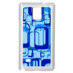 Retro Pattern 1971 Blue Samsung Galaxy Note 4 Case (White)
