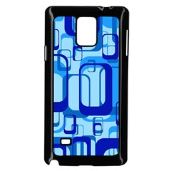 Retro Pattern 1971 Blue Samsung Galaxy Note 4 Case (Black)
