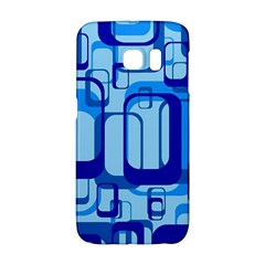 Retro Pattern 1971 Blue Galaxy S6 Edge