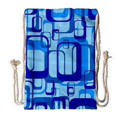 Retro Pattern 1971 Blue Drawstring Bag (Large)