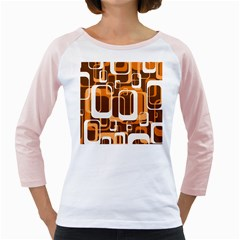 Retro Pattern 1971 Orange Girly Raglans