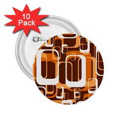 Retro Pattern 1971 Orange 2 25  Buttons (10 Pack)