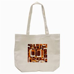 Retro Pattern 1971 Orange Tote Bag (Cream)