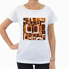 Retro Pattern 1971 Orange Women s Loose Fit T Shirt (white)