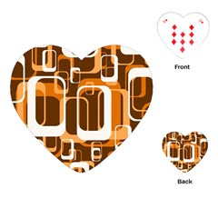 Retro Pattern 1971 Orange Playing Cards (Heart)