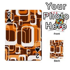 Retro Pattern 1971 Orange Playing Cards 54 Designs