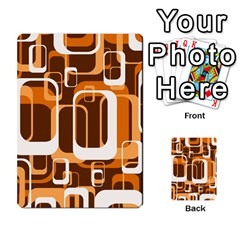 Retro Pattern 1971 Orange Multi-purpose Cards (Rectangle)