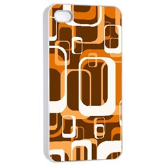 Retro Pattern 1971 Orange Apple iPhone 4/4s Seamless Case (White)