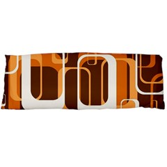 Retro Pattern 1971 Orange Body Pillow Cases (Dakimakura)