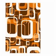 Retro Pattern 1971 Orange Small Garden Flag (Two Sides)