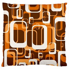 Retro Pattern 1971 Orange Standard Flano Cushion Cases (Two Sides)