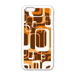 Retro Pattern 1971 Orange Apple Iphone 6 White Enamel Case