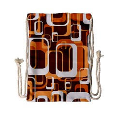 Retro Pattern 1971 Orange Drawstring Bag (small)