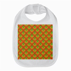 70s Green Orange Pattern Bib