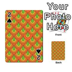 70s Green Orange Pattern Playing Cards 54 Designs