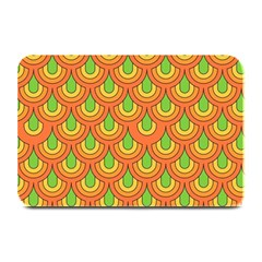 70s Green Orange Pattern Plate Mats