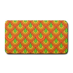70s Green Orange Pattern Medium Bar Mats