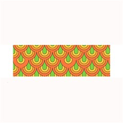 70s Green Orange Pattern Large Bar Mats