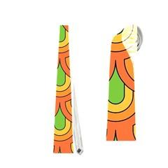 70s Green Orange Pattern Neckties (Two Side)