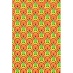 70s Green Orange Pattern 5.5  x 8.5  Notebooks