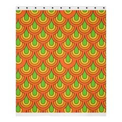 70s Green Orange Pattern Shower Curtain 60  X 72  (medium)