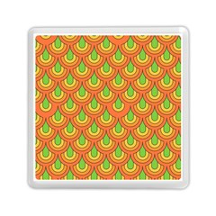 70s Green Orange Pattern Memory Card Reader (square)