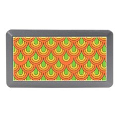 70s Green Orange Pattern Memory Card Reader (Mini)