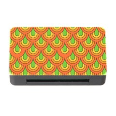 70s Green Orange Pattern Memory Card Reader With Cf