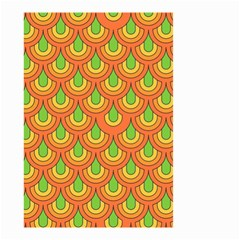 70s Green Orange Pattern Small Garden Flag (two Sides)